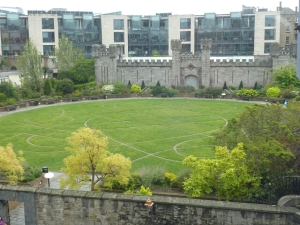 Site of Dubh Linn outside Dublin Castle.